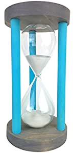 Cray Cray Supply Sleek Circle Gray Hourglass with Blue Spindles
