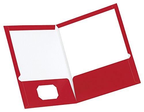 UPC 074319007265, Oxford Laminated Pocket Folder, Letter, 2 Pockets, Red, Pack of 25