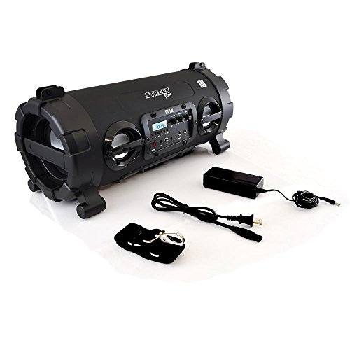 Outdoor Wireless BoomBox Stereo System - 100W Portable Bluetooth Compatible Rechargeable Speaker w/ FM Radio USB / MP3 Player Aux, 1/4
