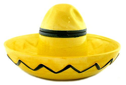 Mexican Sombrero Hat Ceramic Chip and Dip Bowl -