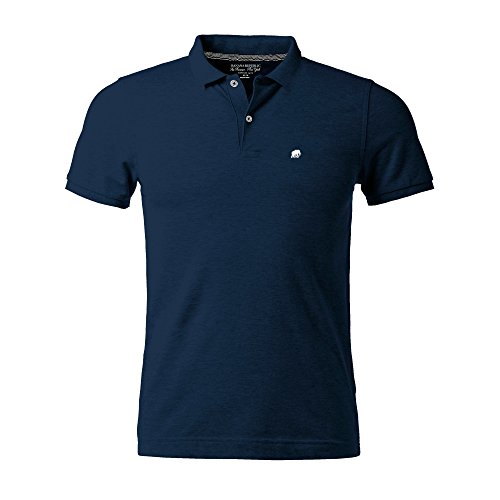 Banana Republic Men's Classic Fit Polo Shirt Elephant Logo (Navy, Large) from Banana Republic