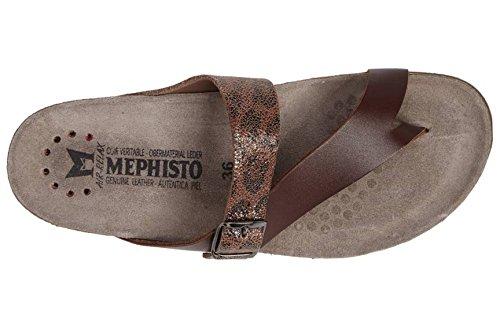 de HELEN GREY para ETNA 7103 Mephisto Sandalias Chestnut mujer cuero P5046230 7SqYxA