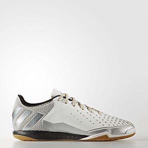 adidas Men's Ace 16.2 Court Indoor Soccer Shoe, Crystal White/Silver Metallic/Gold Metallic