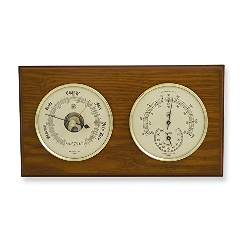 Jewelry Adviser Gifts Oak Wood Weather Station -