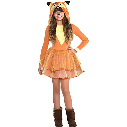 Suit Yourself Furry Fox Halloween Costume for Girls, Large