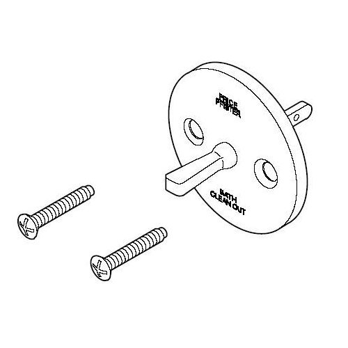 eries Bathtub Drain Overflow Plate Sub Assembly with Screws, Polished Chrome ()