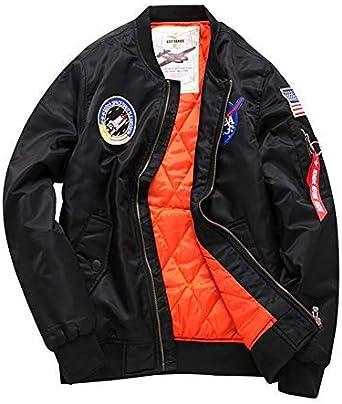 TALLA S. Bomber Jacket Hombre ,Manga Larga Outerwear De Bombardero Spring By Sandbank