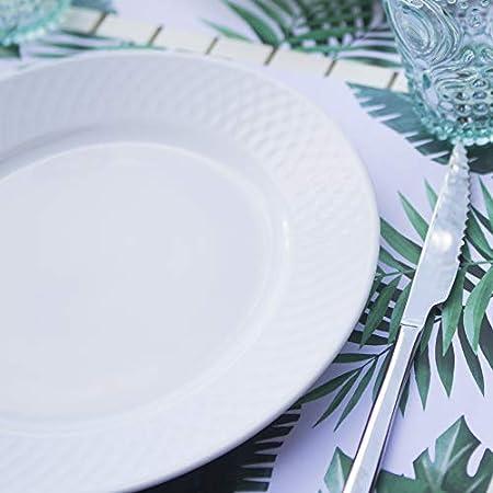 X Spum Manteles Individuales de Papel [Paquete 50 Unidades] Tamaño DIN A3 (42 x 29,7 centímetros) Salvamantel Desechable Antimanchas. Diseño Plantas