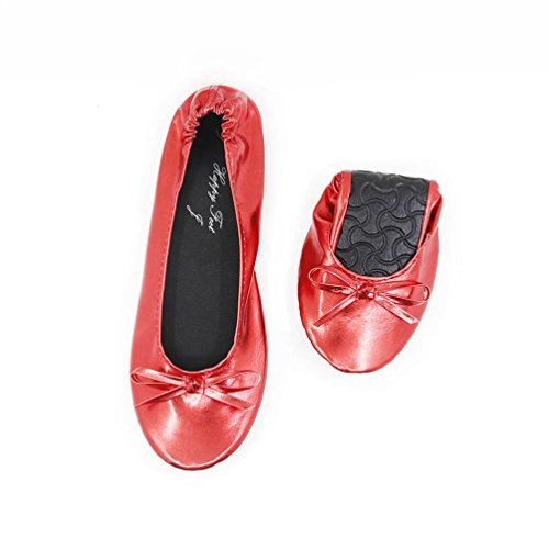 Ballet Ballet Red Happy FeetHfp01 donna Red Happy FeetHfp01 Happy donna Ezqxtww0Y