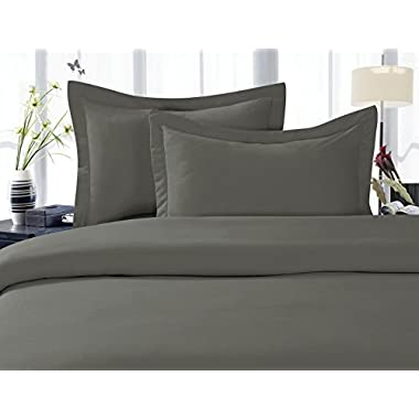 Elegant Comfort 1500 Thread Count Wrinkle,Fade and Stain Resistant 4-Piece Bed Sheet set, Deep Pocket, HypoAllergenic - King Grey