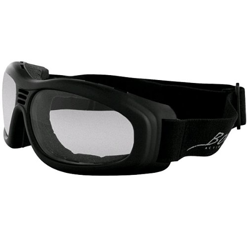 Bobster Touring 2 Adult Touring Motorcycle Goggles Eyewear - Black/Clear / One Size Fits All