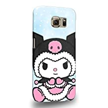 Case88 Premium Designs My Melody & Kuromi Collection 0646 Protective Snap-on Hard Back Case Cover for Samsung Galaxy S6