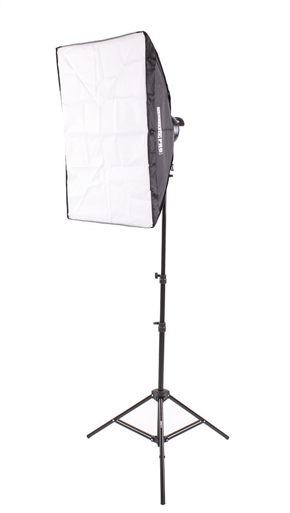 Fovitec 1x 20'' x 28'' Softbox Lighting Kit w/1000 W Total Output - [Classic][Includes Stand, Softbox, Socket Head, 5x 45W Bulbs]