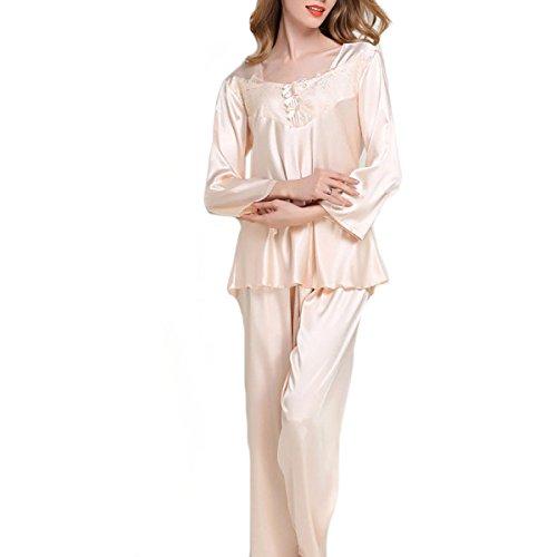 Damas De Gran Código Flojos Juego De Dos Piezas De Alta Calidad Conjunto De Pijama M-XXL 02