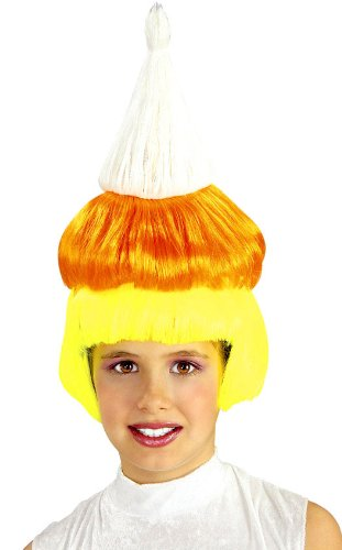 Girls Candy Corn Wig - Child Std. Fun To Collect