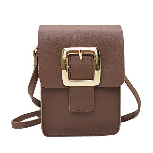 Purse Buckle Mini Brown Body Bag Cross Satispac Point XqI6wy5