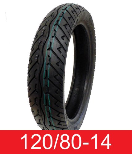 Tire 120/80-14 Tubeless Front/Rear Motorcycle Scooter Moped by MMG