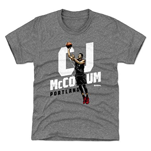 500 LEVEL C.J. McCollum Portland Basketball Youth Shirt (Kids Small (6-7Y), Tri Gray) - C.J. McCollum Floater W WHT