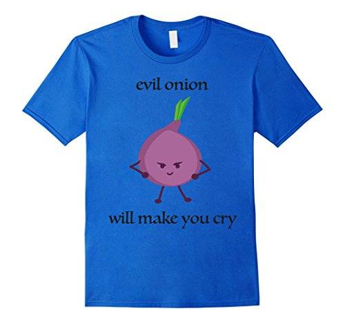 Mens Funny Evil Onion Cry Halloween Costume T Shirt, Gift Tshirt Medium Royal (The Onion Halloween Costumes)