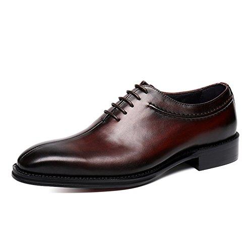 Zapatos Clásicos de Piel para Hombre Zapatos de cuero para hombres Ropa formal Zapatos de boda de negocios de estilo británico de punta estrecha hechos a mano ( Color : Marrón , Tamaño : EU38/UK5.5 ) Marrón