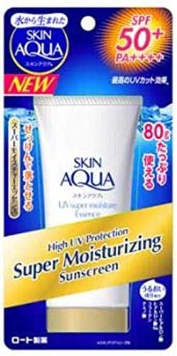 SUNPLAY Skin Aqua Moisturizing SPF 50 80g- PA++++ Provides Highest Protection Against UVA Rays which Causes Premature Aging Such as Wrinkles, Pigmentation and Dark Spots