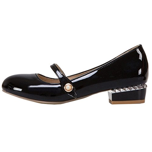 Colors Onewus Black 4 Flats with Size with Spring Jane Shoes Large Available Marry Small 1wr1Oqx7B
