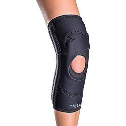 DonJoy Lateral J Patella Knee Support Brace without Hinge: Neoprene, Right Leg, Medium