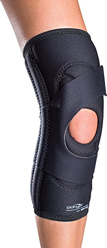 - DonJoy Lateral J Patella Knee Support Brace Without Hinge: Drytex, Left Leg, Large