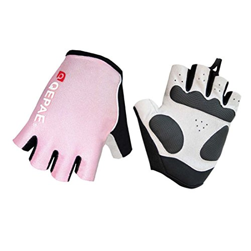 Cosyume Halloween (Lerway MTB Half Finger Fingerless Short Bicycle Bike Cycling Gloves (Pink,)