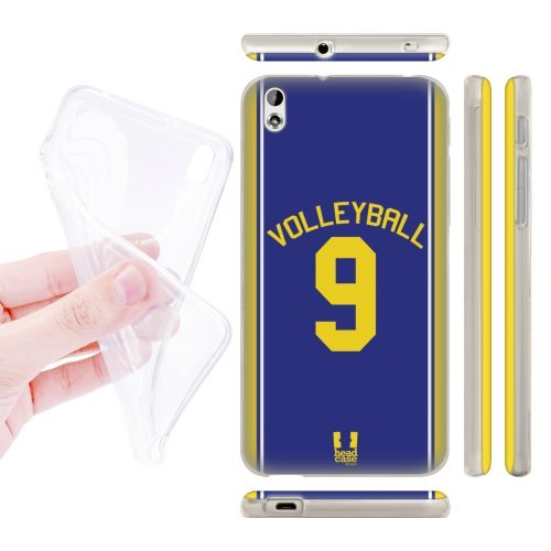Head Case Designs Volleyball Sports Jersey Soft Gel Back Case Cover for HTC Desire 816