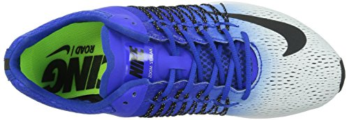 Nike Air Zoom Streak 5 - Zapatillas de running unisex para adultos Blanco/Negro/Azul (White/Black-Racer Blue)