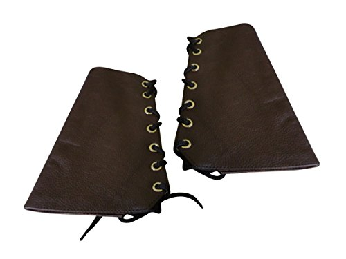 Brown Double Leather Wristband Gauntlet product image