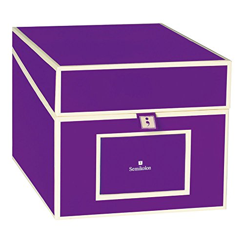 Semikolon Multimedia CD/DVD/Photo Storage Box, Plum (31818) -