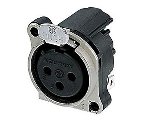 Neutrik NC3FBH1 3-Pole Female XLR Receptacle Connector