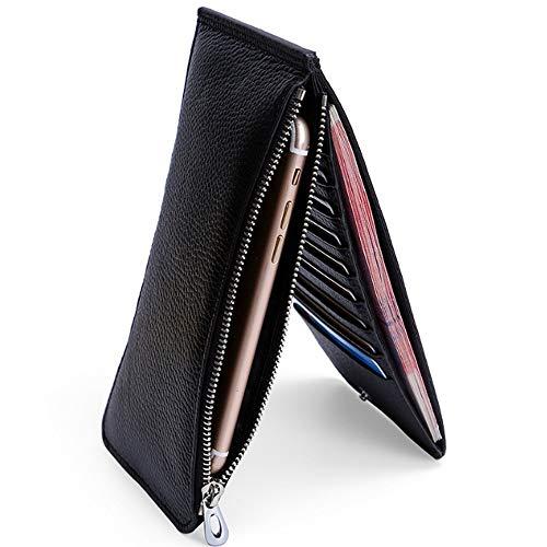 Rfid Black La Cuir Size Pour magnétique Portefeuille Multi fonction Hommes En Brown color Carte Paquet S Titulaire Long Anti De HSwPEqf