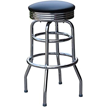 Budget Bar Stools 0-1971BLK 1950\u0027s Retro Swivel Bar Stool 16\  L x  sc 1 st  Amazon.com & Amazon.com: Richardson Seating Retro 1950s 30\