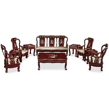 Amazon.com: Juego de sofá de muebles europeo de 3 piezas ...