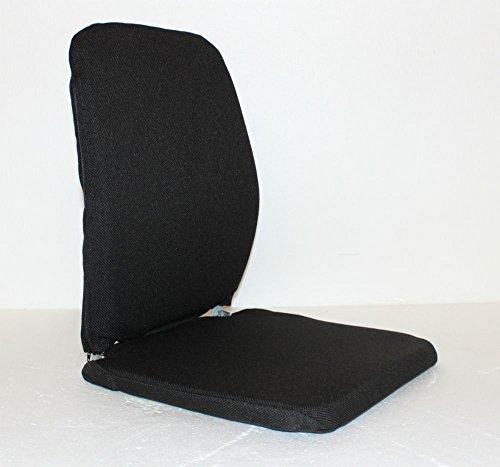 Model BRSCMCF-BLACK Memory Foam Lumbar Seat Support for car, bus, taxi, boat, airplane (Sacro Ease Model)