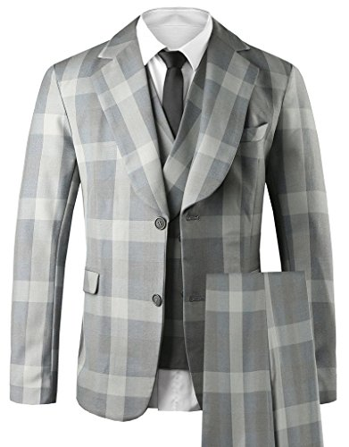 Hanayome Men's 3 PC Casual Stylish Suit Blazer Jacket, used for sale  Delivered anywhere in USA
