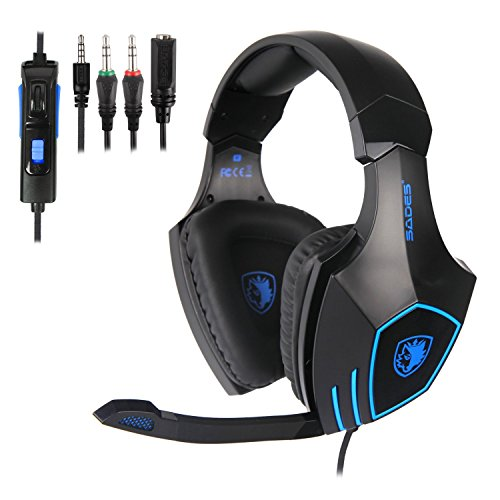 SADES 819 Gaming Headset for PS4 New Xbox One Gaming Headphone with Mic Volume Control for PC Mac Laptop by Sades