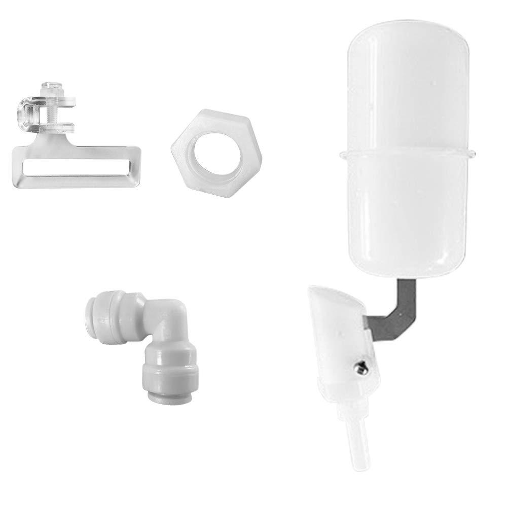 Decdeal Controlador Autom/ático de Llenado de Agua /Álvula de Flotador de Agua para Bebedero Fuente Acuario Pollo Perro Caballo