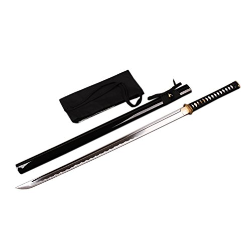 Practice Ninja Sword (Japanese Ninja Sword Practice Sharp High Carbon Steel Real Sharp Battle Ready (Black))