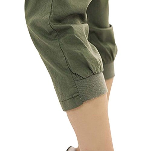 l'uso Sports 4 donna Harem Pantaloni estate Fashion 3 Green adatti per XL Sexy da Shorts quotidiano Army in d070wXx