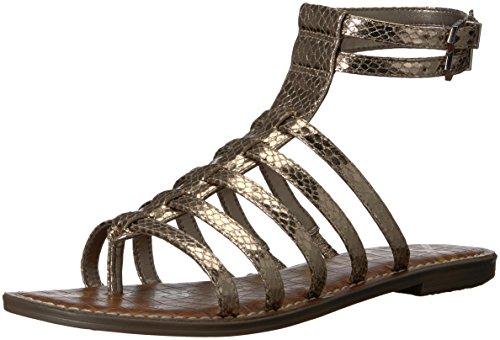 Gilda Edelman Pewter Sam Boa Gladiator Sandal Women's Metallic B46WaZq