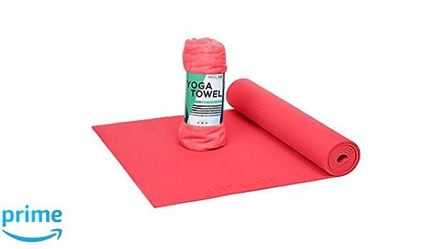 Incline Fit Anti-Slip Yoga Mat and Towel, Unisex, Anti-Slip ...