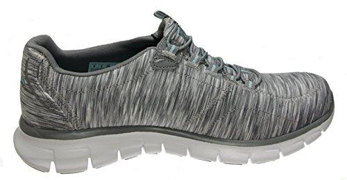 Skechers Damen Sport Empire - Rock um Relaxed Fit Fashion Sneaker Graue / Hellblaue Synergie