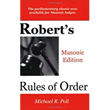 Robert's Rules of Order - Masonic Edition