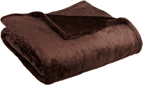 Northpoint Cashmere Plush Velvet Throw, Chocolate - Chocolate Plush Blanket