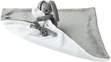 Rose Nattou Couverture Doudou Lapin Lapidou 48 x 48 cm Avec Attache-Sucette