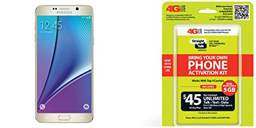 Samsung Galaxy Note 5, 32GB, (Verizon)(Straight Talk), Gold runs on Straight Talk's $45 unlimited plan via Verizon's 4G LTE Towers